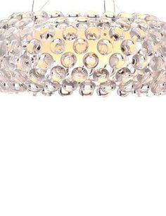 Shine a beautifully contemporary light in your home with the Stellar Ceiling Lamp that features an oval-shaped acrylic shade and small beads.