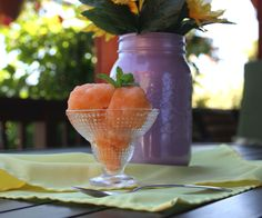Super easy and yummy cool treat! http://thefoodblog.net/cantaloupe-sorbet/