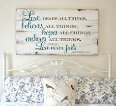 Love bears all things || Aimee Weaver Designs