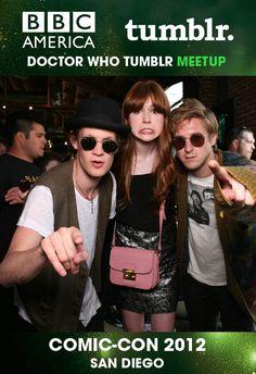 Matt Smith, Karen Gillan, and Arthur Darvill {gif}
