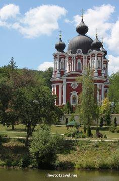 Main church in Curchi Monastery in Moldova