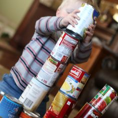 Canned Food Blocks for Toddlers
