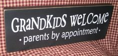 Grandkids welcome parents by appointment