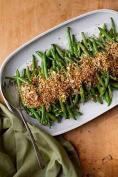 Green Beans with Lemon Parmesan Panko by ohmyveggies #Green_Beans #Panko #Healthy #Easy