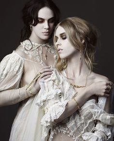 Jessica Brown Findlay in Dominic Jones' white chantily lace collection