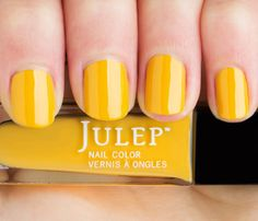 Must-Try New Nail Colors! If you like red: Try YELLOW. You're not afraid to sound the alarm, so drop classic crimson for traffic light yellow. Opaque and marigold-inspired Julep Nail Color in Catrina, is our pick since pastel yellows can veer into Easter egg territory and sparkle gets gaudy. #SelfMagazine