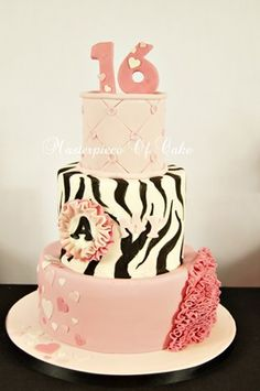 Pink and zebra cake - gorge!