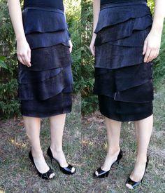 Cross Layered Black Skirt - on sale for $32.00 sizes 4 - 20