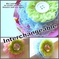 Fabric flowers, fabric flowers and more fabric flowers