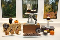 Gorgeous dessert table at a Halloween Party.  See more party ideas at CatchMyParty.com.  #halloweenpartyideas