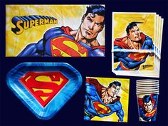 Superman Birthday Party Set Supplies   eBay