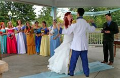 ; why didn't i think of these? dress as Cinderella and make my bridesmaids the other princesses. DARN.