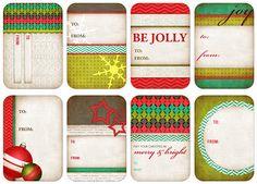 Gift tag printables.
