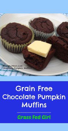 Chocolate Pumpkin Muffins | #glutenfree #grainfree #dairyfree #paleo