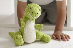 Knitting a Dinosaur toy