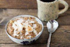 Coconut Rhubarb Amaranth Porridge.
