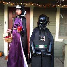 """Halloween 2011 Sabrina - """"Wicked Step Mother"""" Diego - """"Lego Darth Vader"""" =) I had so much fun making his costume."""