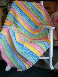 rag quilt in strips