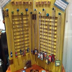 Craft Fair Booth Display Ideas | craft show and booth display ideas / necklace display necklac display, ornament, craft fair booths, booth display, necklace holder, necklac holder, booth craft show display