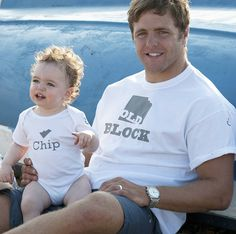 'old block' and 'chip' t shirt and baby grow by precious little plum   notonthehighstreet.com