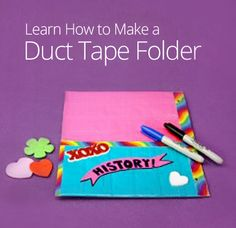 How to Make a Duct Tape Folder