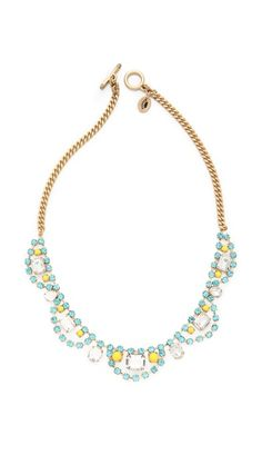 Juicy Couture Rhinestone Bib Necklace