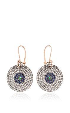 Titanium Evil Eye Earrings by Ileana Makri for Preorder on Moda Operandi