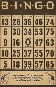 Free printable... bingo cards