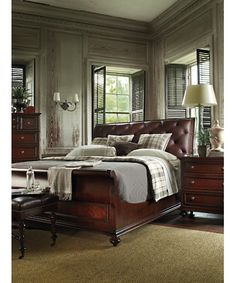 Stanley Furniture » Beds » CityClubSaville Leather Sleigh Bed