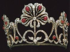 Ruby and diamond crown.