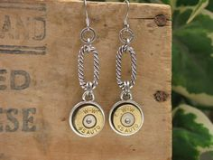 Authentic Winchester 45 Auto ACP Dangle Bullet Earrings by thekeyofa, $28.00