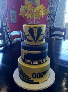 Bond cake for JP's Dog.  I love it! bond cake, men cake, adult cupcakes, cake designs for men, 007 cake, birthday cakes