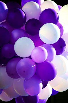 Pretty Purple Balloons