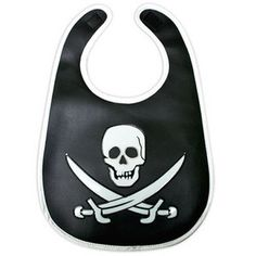 Rock And Roll Baby Gifts - Sourpuss Pirate Skull Die Cut Bib