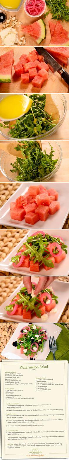 Watermelon salad sounds yummy :)