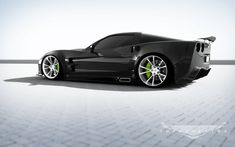 "Corvette GT6X by Supervettes. The GT6X is 5"" wider than a ZR1 and features new front & rear bumpers, rocker panels with optional side-pipe exhaust, automated rear spoiler... all the fruit!"