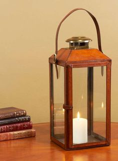 Invite our vintage-inspired lantern to cast a warm glow upon your mantel, in the entryway, or from a tabletop.