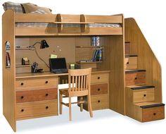 dorm loft, stair, idea, beds, lofts, loft bed, desk, twins, kid room