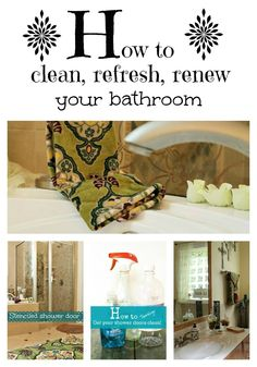 How to clean, refresh renew your bathroom. Diy moldings, natural cleaning solutions and more!
