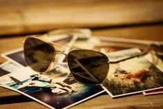 Gold Frame Aviator Sunglasses by Randolph Engineering