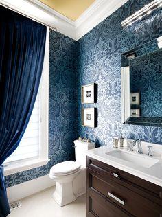 Bathroom Wallpaper | Jane Lockhart Interior Design