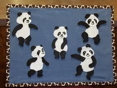 """Five Little Pandas"" #storytime #flannelboard #flannelfriday"