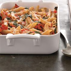 Easy Dinner: Easy Baked Tomato Pasta with Spinach - 5 Easy Dinner Recipes that Save Time - Shape Magazine - Page 4