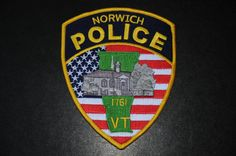 Norwich Police Patch, Windsor County, Vermont