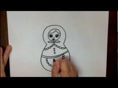 How to Draw a Nesting Doll Step by Step Easy Drawing Tutorial