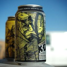 Crooked Fence Brewing's Can Lineup designed by Kelly Knopp.
