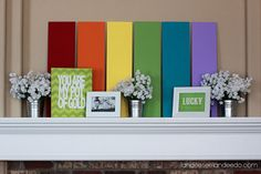 Cute St. Patty's Day Mantel and Other Spring Decor Ideas