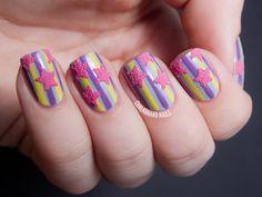 Stars and stripes - Nail art