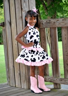 For Tessa .Cowgirl Diva Skirt Set-cowgirl, diva, cow, rodeo, western, skirt, outfit, animal