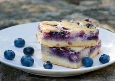 Blueberry Cheesecake Squares...I heart blueberries.  :)